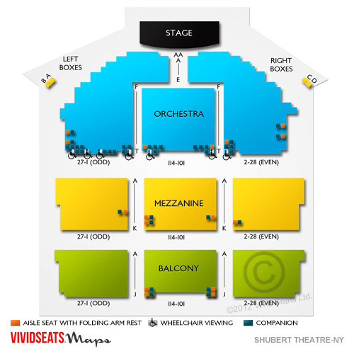 Shubert Theatre NYC Seating Guide for Matilda, Hello, Dolly!, and