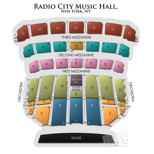 radio city music hall seating chart best seats at music hall kansas