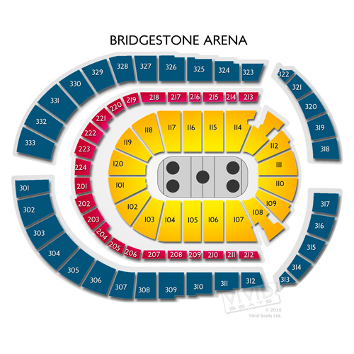 Bridgestone Arena Concerts Guide to Seating in Nashville Vivid Seats