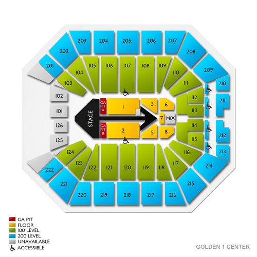 Guide to Golden 1 Center Seating Chart and Events Schedule Vivid