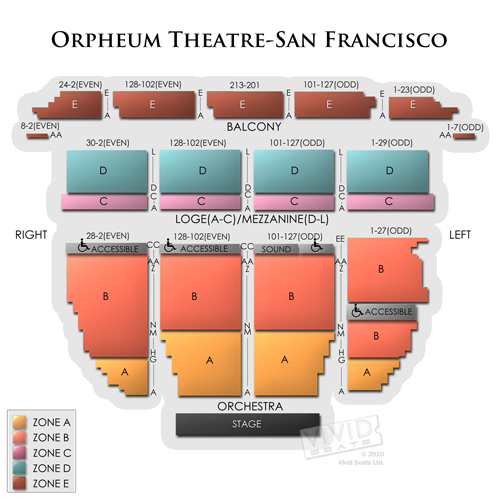Orpheum Theatre San Francisco A Seating Guide for Hamilton and More