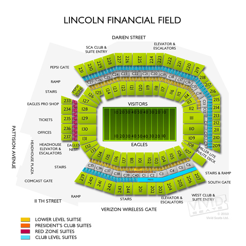 Lincoln Financial Field Concerts Seating Chart and Event Schedule