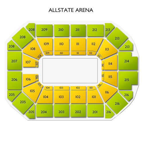Allstate Arena Seat Layout Elcho Table