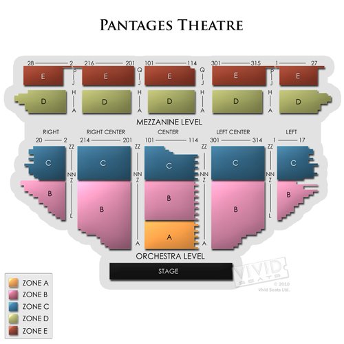 Pantages Theatre Hollywood Seating for Hamilton and Other Los