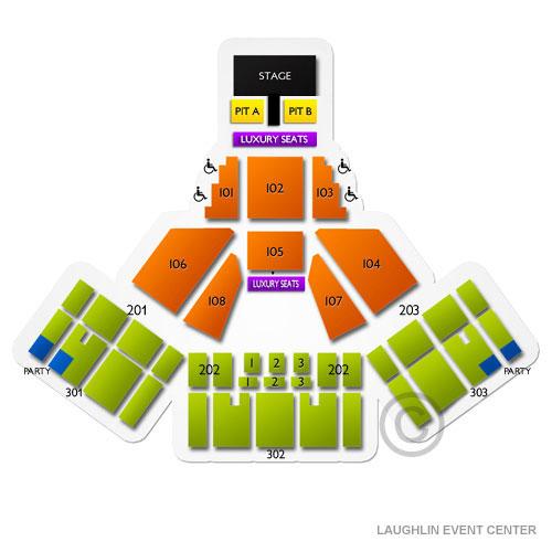Laughlin Event Center Dream Seats Elcho Table