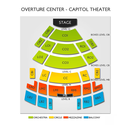 Capitol Theater, Madison, WI - Seating Chart  Stage - Madison Theatre