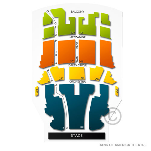 CIBC Theatre Seating for Hamilton Chicago Performances Vivid Seats