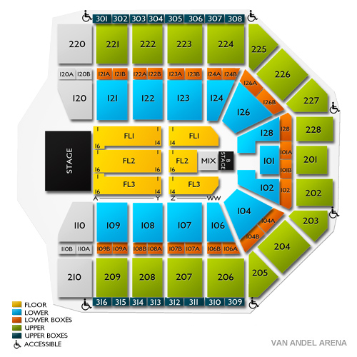 Van Andel Arena, Grand Rapids, MI - Seating Chart  Stage - Grand