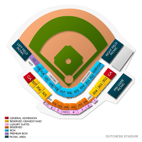 Staten Island Yankees at Hudson Valley Renegades Tickets - 8/17/2019