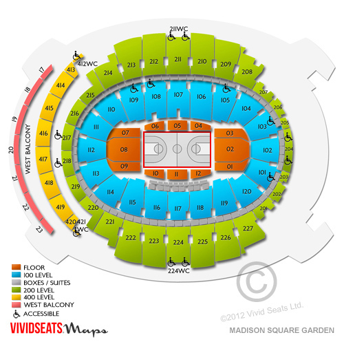 Madison Square Garden Concerts A Seating Guide for the New York - a seating
