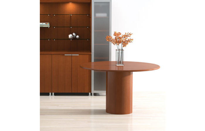 Wood Veneer Round Office Table D2 Office Furniture + Design