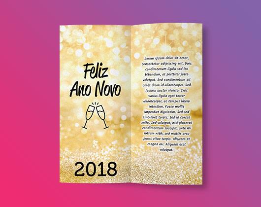 Cartão de Ano Novo Imprimir cartões online Printi