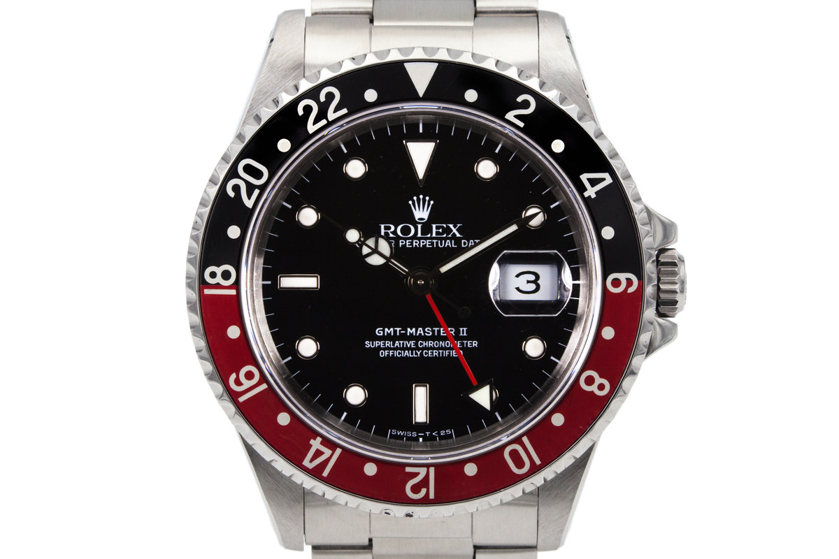 Jb Lighting Varyled 384 Hq Milton 1991 Rolex Gmt Ii 16710 With Box And Papers