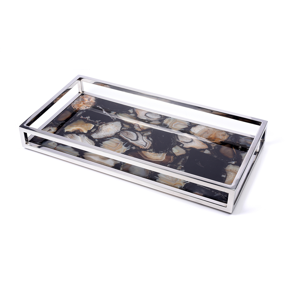Black Serving Tray Black Agate Serving Tray 7654