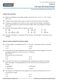 Grade 9 Math Worksheets and Problems: Full Year 9th Grade ...