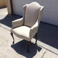 Vintage Upholstered Victorian Wingback Chair | Loveseat ...