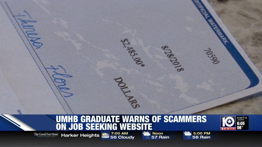 Local job seeker ends up as check-cashing scheme target