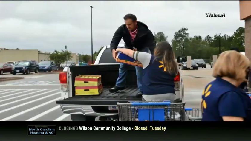Walmart providing supplies  raising funds for hurricane relief