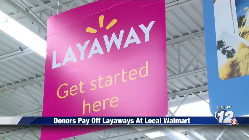Donors pay off layaways at local Walmart