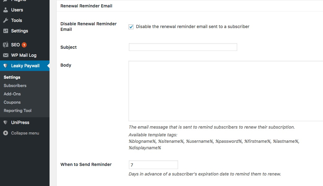 How to set up renewal reminders - ZEEN101