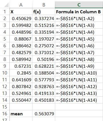 Excel Exponential Distribution - nandeshwarinfo - random number generator in excel