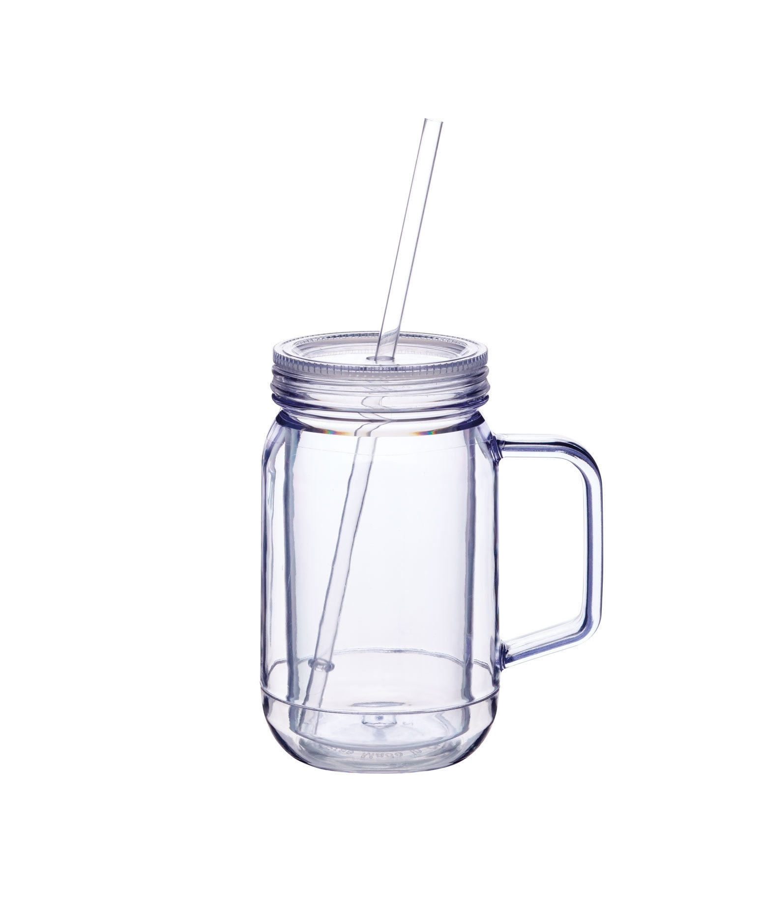 Glassware Drinking Barcraft 400ml Double Walled Drinks Jar Glassware