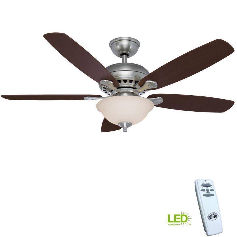 Upscale Ceiling Fan Southwind 52 In Led Indoor Brushed Nickel Ceiling Fan With Light Kit And Remote Control