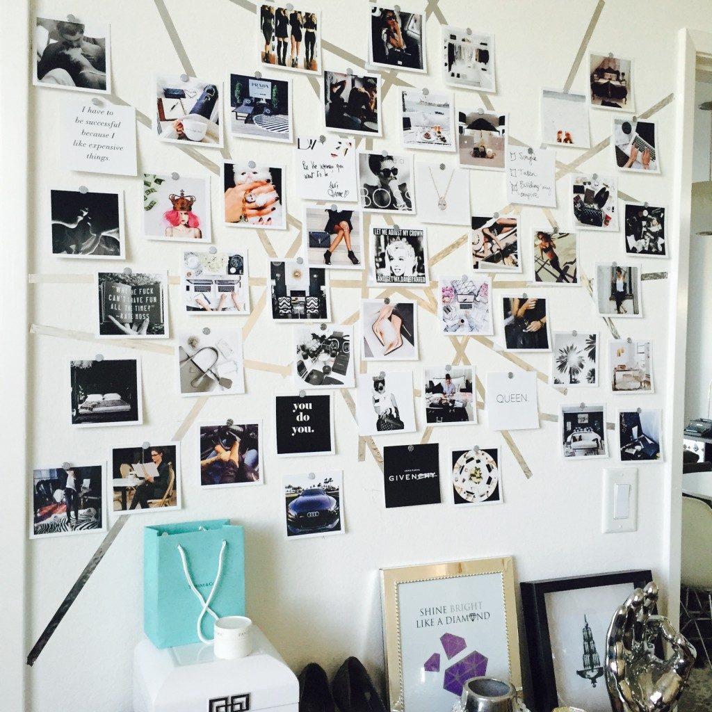 Fotowand Mit Schnur Diy Vision Board Tutorials You Should Make This New Year