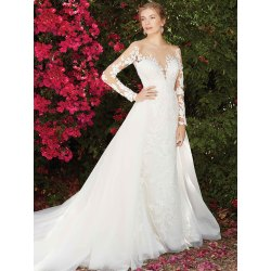 Superb Tulip Offers A More Look Visually Striking Floral Laceappliques That Adorn Gown From Sleeves To Six Long Sleeve Wedding Dresses From Casablanca Blog