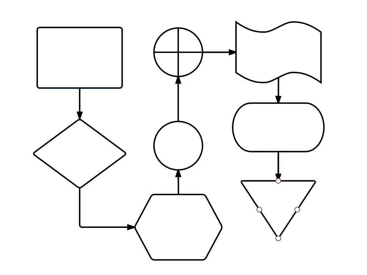 process flow diagram symbols in excel