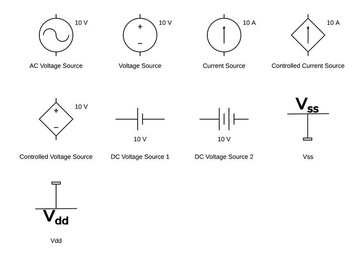 Source Dc Schematic Symbols Find Wiring Diagram