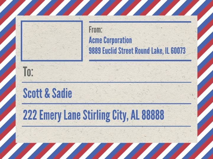 Mailing  Shipping Label Templates  Examples Lucidpress - mailing address labels template