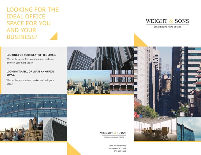 3 Free Real Estate Brochure Templates \ Examples - architecture brochure template