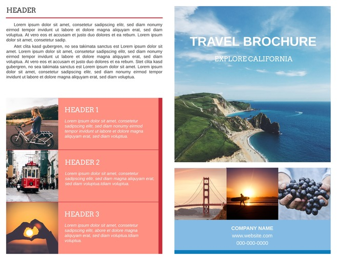 Free Travel Brochure Templates  Examples 8 Free Templates - Vacation Brochure Template