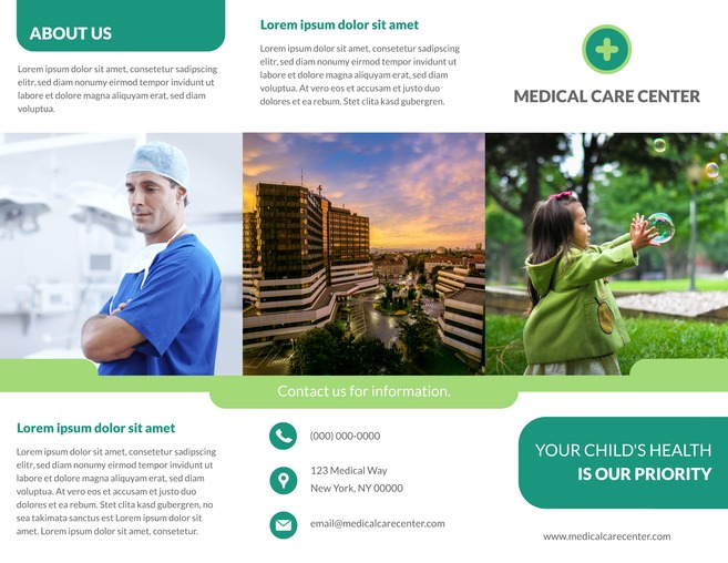 22 Free Pamphlet Templates  Examples - Lucidpress - Medical Newsletter Templates Free