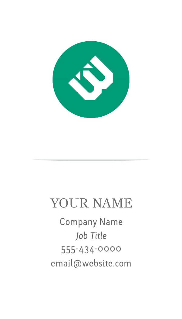 4 Free Vertical Business Card Templates  Examples