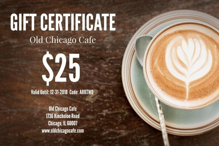 Restaurant Gift Certificate Templates  Examples Lucidpress