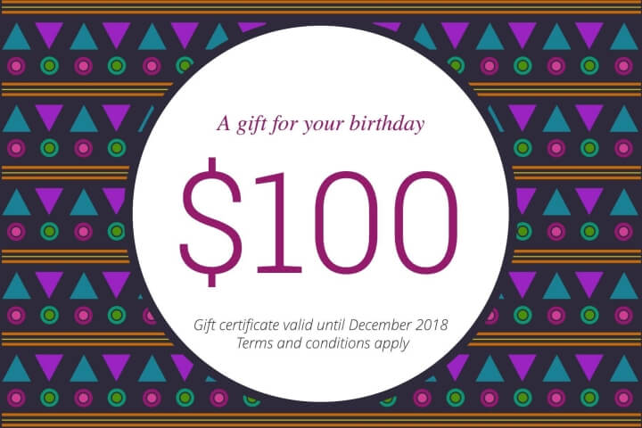 Patterned Birthday Gift Certificate Template Lucidpress - birthday gift certificate