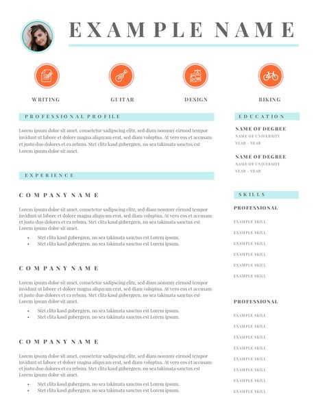 Free Resume Templates  Examples - Lucidpress