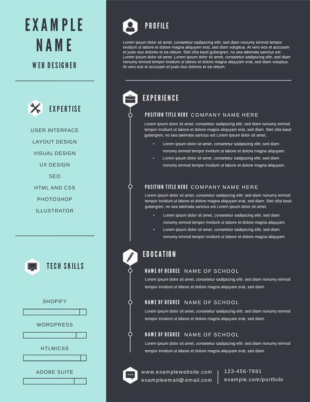 free resume templates on pinterest