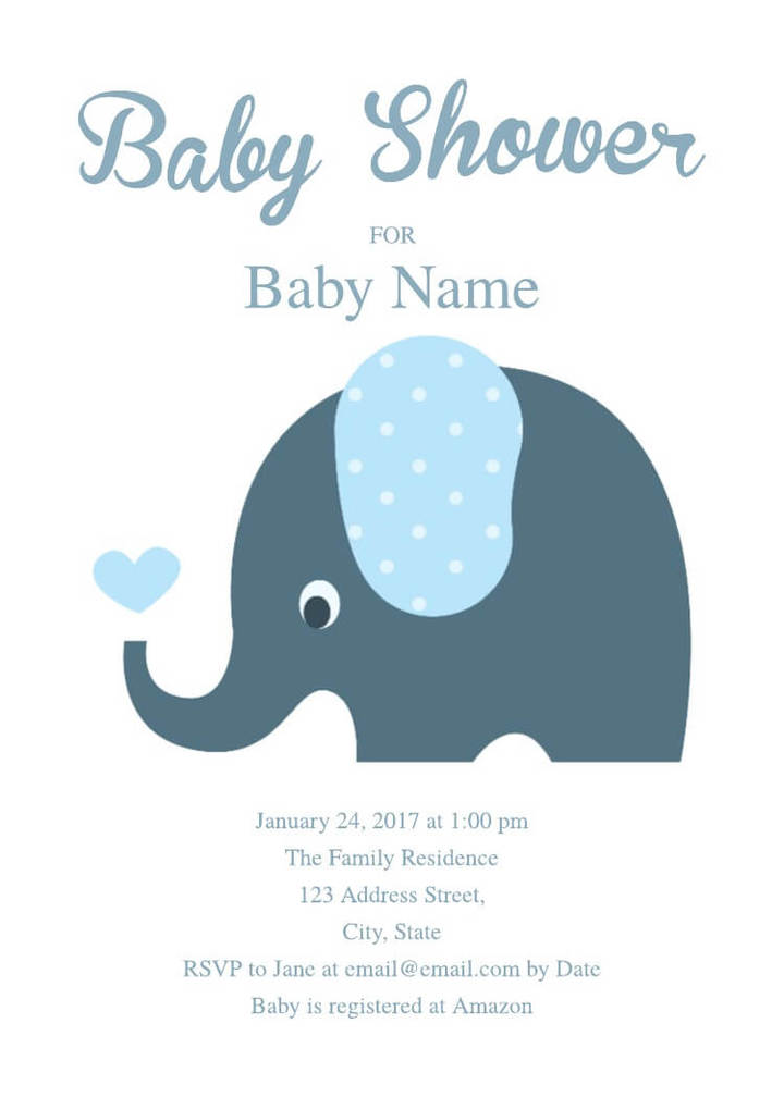 2 Free Baby Shower Invitation Templates  Examples - Lucidpress - free baby invitation templates