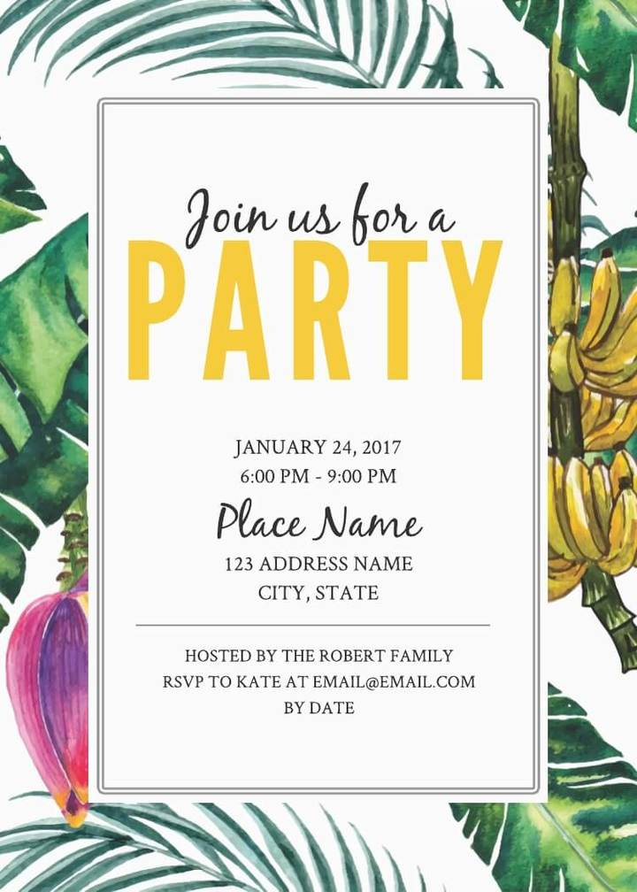 16 Free Invitation Card Templates  Examples - Lucidpress - birthday party card template