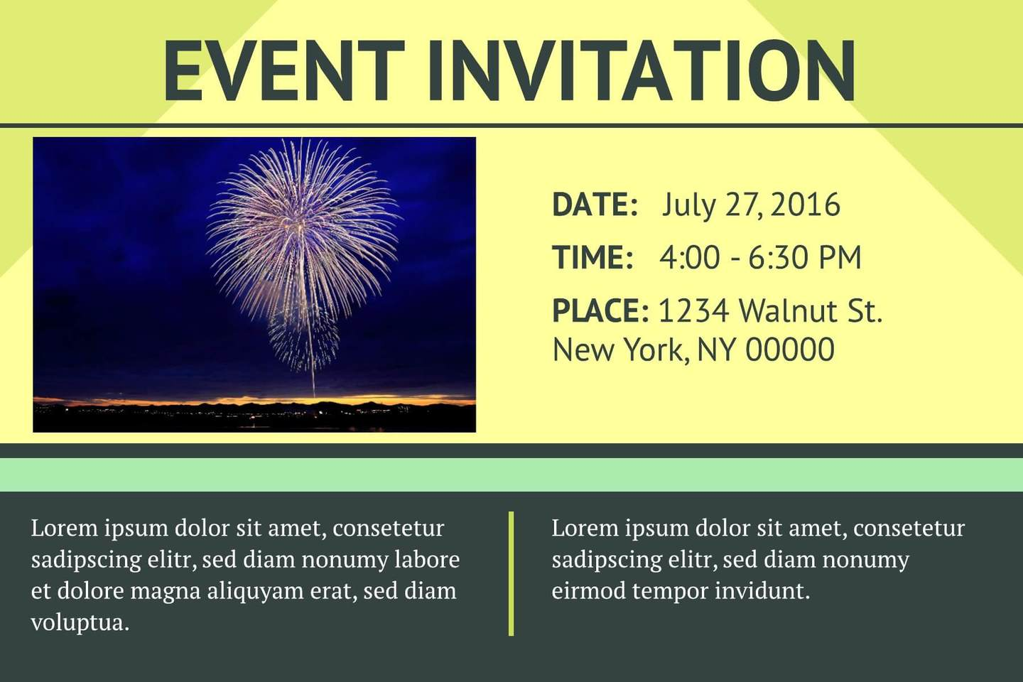 online event invitation