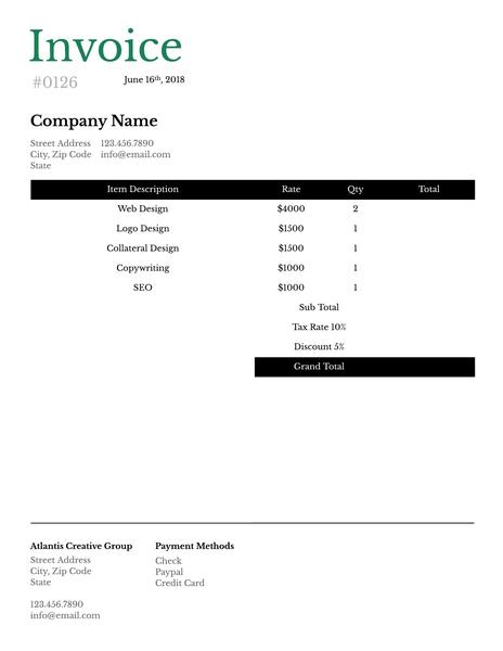 Invoice Templates  Examples Lucidpress