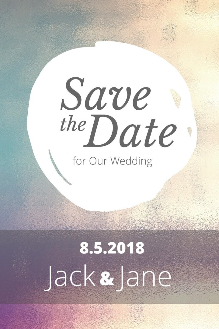 Save the Date Postcard Templates  Examples Lucidpress - Save The Date Wedding Templates