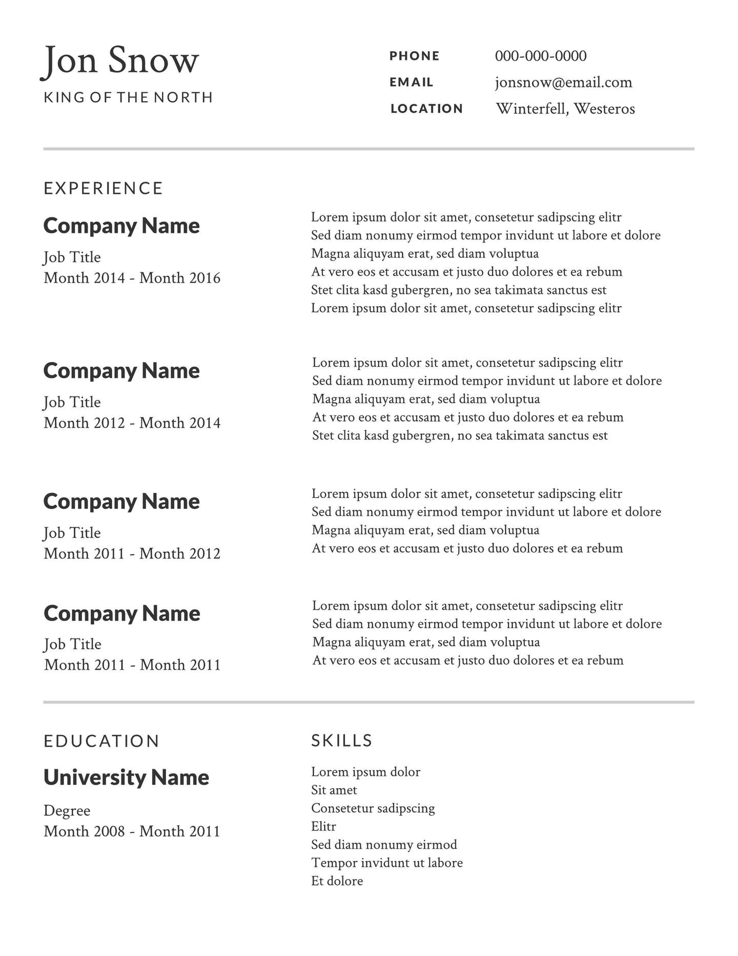Examples Of A Resume Free Resume Templates Examples Lucidpress