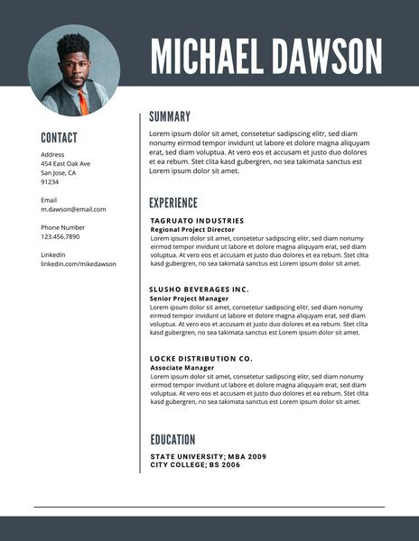 Free Professional Resume Templates (Downloadable) Lucidpress