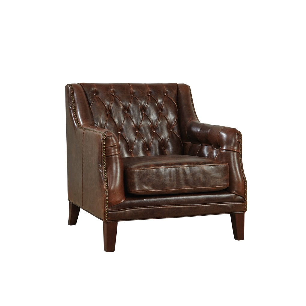 Leather Lounge Tufted Leather Lounge Chair