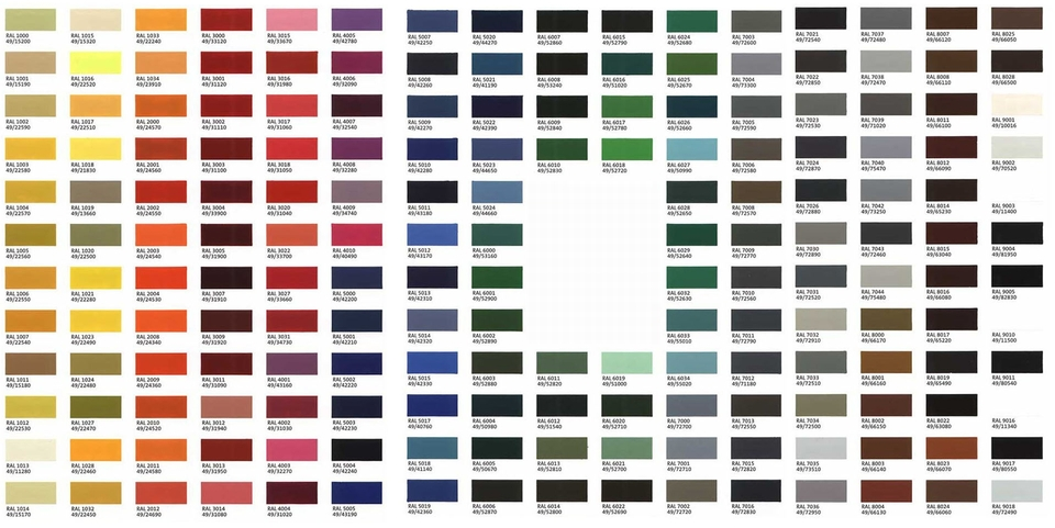 Ral Colours Chart Pdf - Ral color chart ral color chart atlas - ral color chart