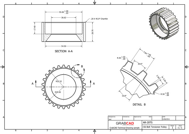 solidworks timing belt pulleys